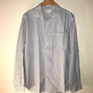 J Crew pinstripes button up long sleeve size L